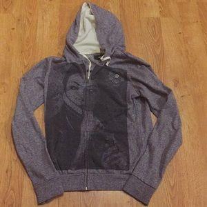 Obey Sweatshirt Hoodie Zippered Front